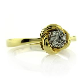 14K Yellow Gold Diamond Ring 0.17 Carat