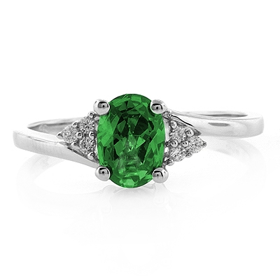 oval cut emerald promise ring silver best buy