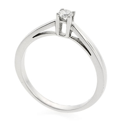 0.12 ct tw Diamond Engagement Ring Setting in 18K White Gold