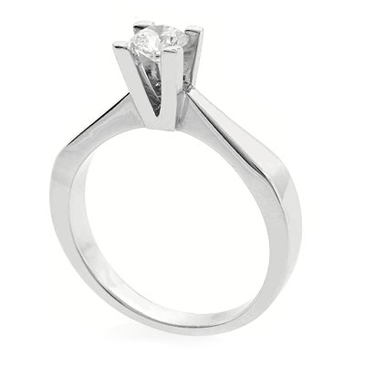 0.38 ct tw Diamond Engagement Ring Setting in 18K White Gold