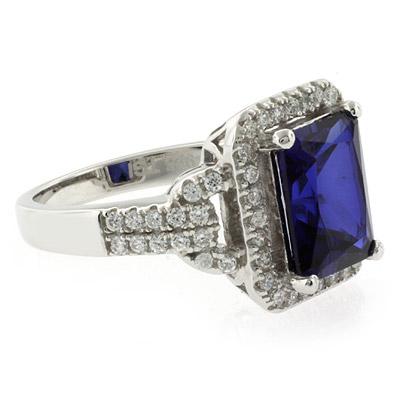 Emerald Cut High Quality Sapphire Ring
