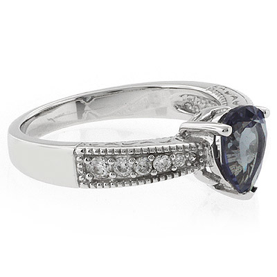 Alexandrite Pear Cut Stone Ring