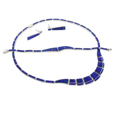 Opal Necklace Bracelet Earrings Set
