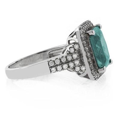 Elegant Emerald Cut Alexandrite Ring