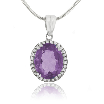 Oval Cut Color Change Corundum Alexandrite Pendant
