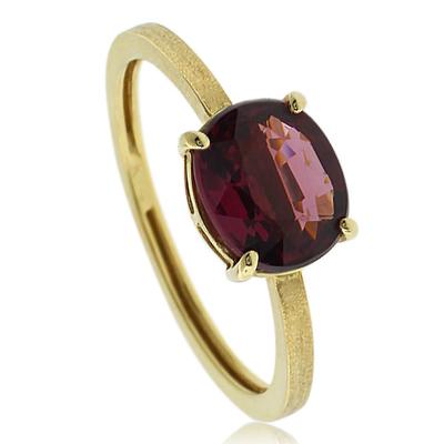 Natural Mined Tourmaline 14K Yellow Gold Ring