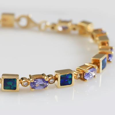 Opal Bracelet in Sterling Silver