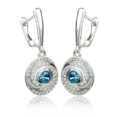 Dangling Alexandrite Sterling Silver Earrings Change Color Stone