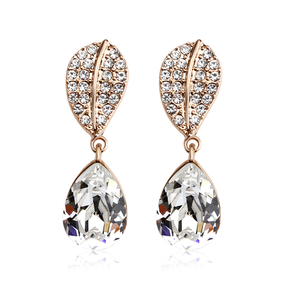Beautiful Earrings With Gold Rose Plated