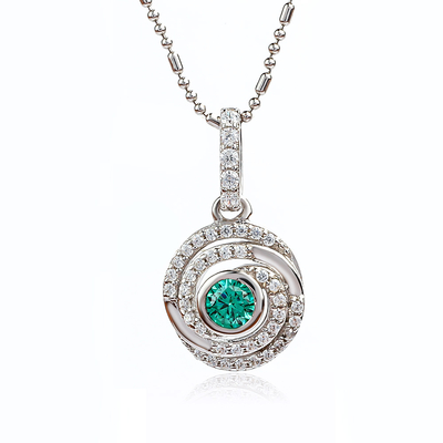 June Birthstone Alexandrite Silver Pendant