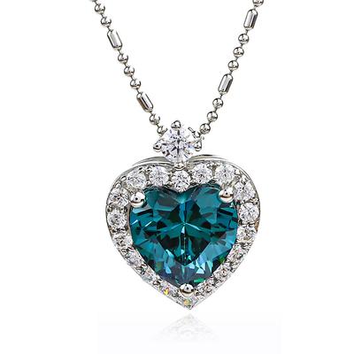 Heart Alexandrite Sterling Silver Pendant