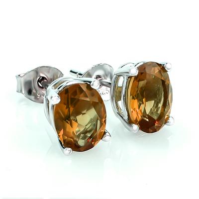 Sterling Silver Zultanite Oval Cut Earrings