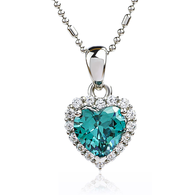 Heart Sterling Silver Pendant With Alexandrite