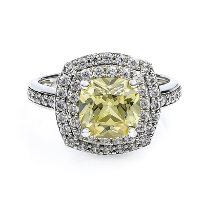 Zultanite Color Change Stone Ring With Simulated Diamonds