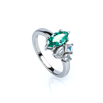 Sterling Silver 925 Paraiba Ring