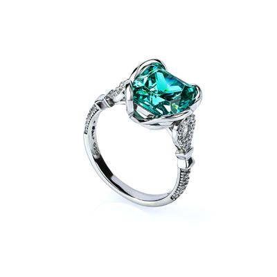 Sterling Silver Paraiba Tourmaline Ring