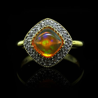 1.5ct Mexican Fire Opal Ring