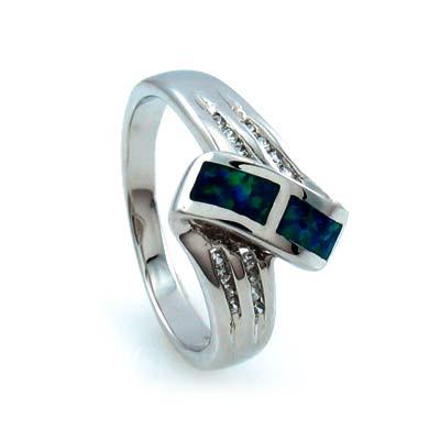 Twisted Australian Opal Ring