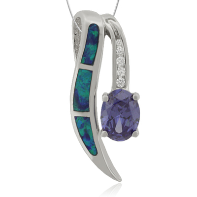 Majestic Tanzanite and Opal Pendant