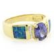 Tanzanite and Inlaid Opal Ring