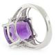 Huge Oval Cut Amethyst Silver Ring