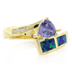 Opal Trillion Cut Silver Ring
