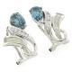 Opal and Alexandrite Silver Earrings
