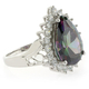 Pear Cut Sterling Silver Mystic Topaz Ring