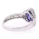 Tanzanite Sterling Silver Oval Cut Gemstone Ring