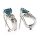 Alexandrite Omega Back Silver Earrings Blue to Green