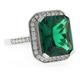 Emerald Cut Micro Pave Emerald Ring