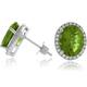 Oval Cut Color Change Sapphire Silver Earrings