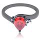 Beautiful Pear Cut Fire Opal Ring