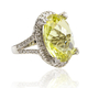 Beautiful Natural Yellow Citrine 14K White Gold Ring
