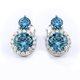 Round Cut Alexandrite Sterling Silver Earrings Change Color Stone