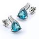 Trillion Cut Alexandrite Sterling Silver Earrings