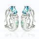 Omega Closure White Opal With Alexandrite .925 Silver Earrings