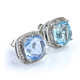 Color Changing Alexandrite Cushion Cut Stone Micro Pave Earrings