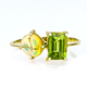 Natural High Quality Mexican Fire Jelly Opal Peridot 14K Gold Ring