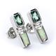 White Opal With Alexandrite .925 Silver Earrings