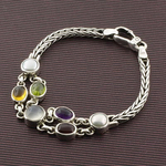 Handmade Byzantine Bracelet with Genuine Gemstones