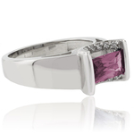 Baguette Cut Color Change Alexandrite Silver 925 Ring