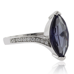 Marquise Cut Color Change Alexandrite .925 Silver Ring