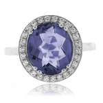 Corundum Alexandrite Color Change Silver Ring