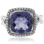 Cushion Cut Alexandrite Sterling Silver 925 Ring