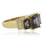14K Gold Plated Sterling Silver Mystic Topaz Ring