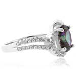 Mystic Topaz Fashion Sterling Silver Ring