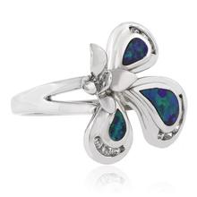 Australian Opal Butterfly Sterling Silver Ring