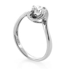 Sterling Silver Promise Swirl Ring