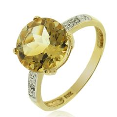 10K Yellow Gold Natural Citrine Ring